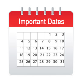 Important dates, Holloway Cook Accountants